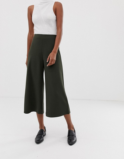 Asos Design Cropped Wide Leg Pant In Crepe by Asos Design