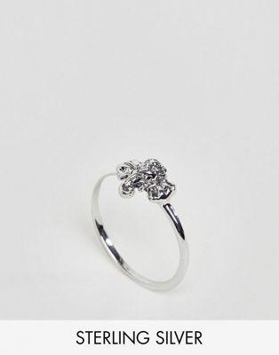 ASOS DESIGN Curve - Anello in argento sterling con elefante