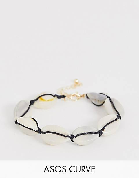 ASOS DESIGN Curve bracelet with faux shell