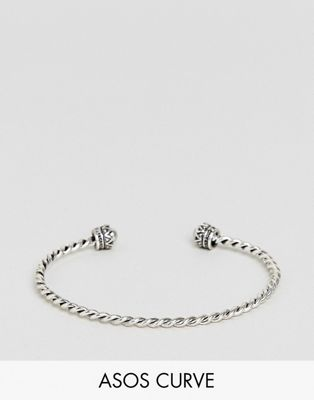 ASOS DESIGN Curve Burnished Twist Cuff Bracelet