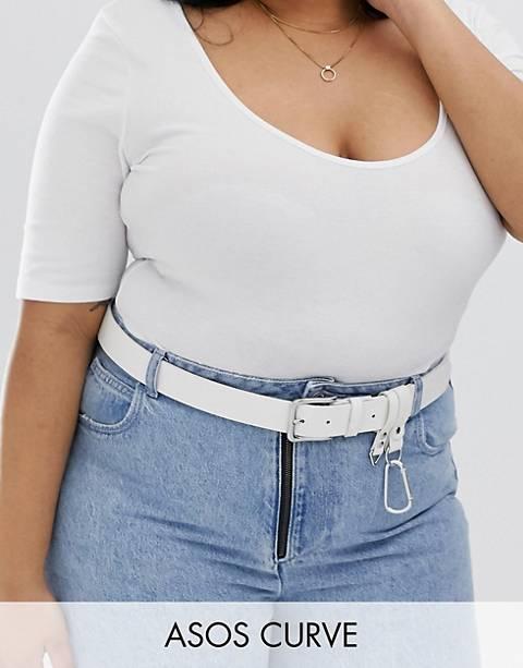 ASOS DESIGN Curve dogclip & chain waist and hip belt