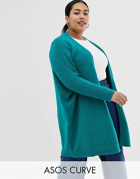 ASOS DESIGN Curve eco oversize cardigan in fluffy yarn
