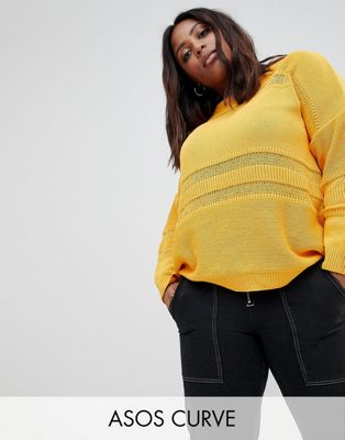ASOS DESIGN Curve eco oversized jumper with stitch detail