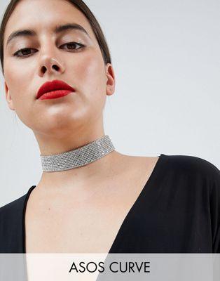 ASOS DESIGN Curve Jewel Choker Necklace