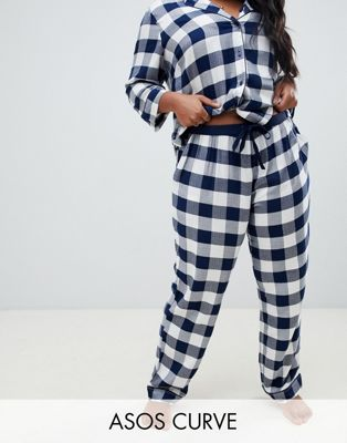 Image 1 of ASOS DESIGN Curve mix & match gingham pant