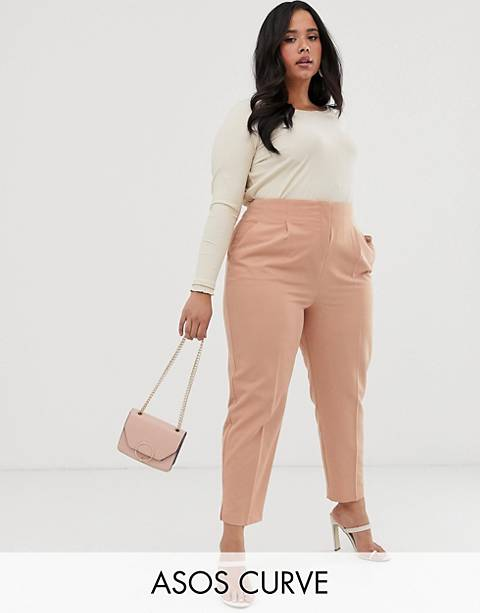 ASOS DESIGN Curve mix & match high waist cigarette pants