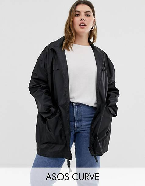 ASOS DESIGN Curve pac a mac jacket