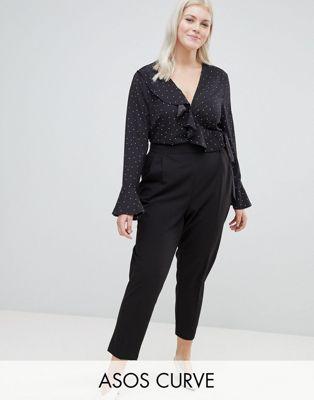 ASOS DESIGN Curve - Pantalon fuselé taille haute