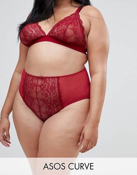 ASOS DESIGN Curve Roxy lace highwaist pant