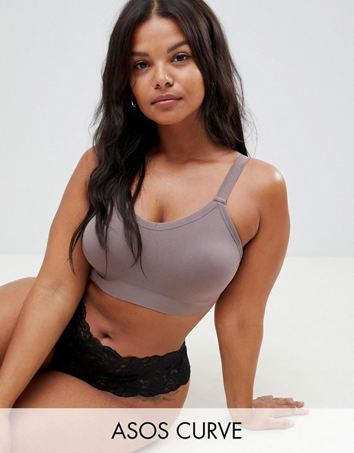 ASOS DESIGN Curve supportive recycled seamfree bralette