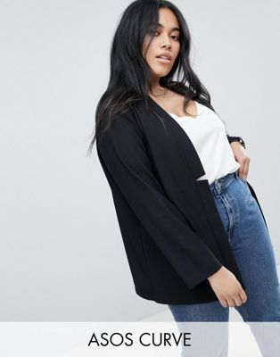ASOS DESIGN curve tailored easy chuck on blazer