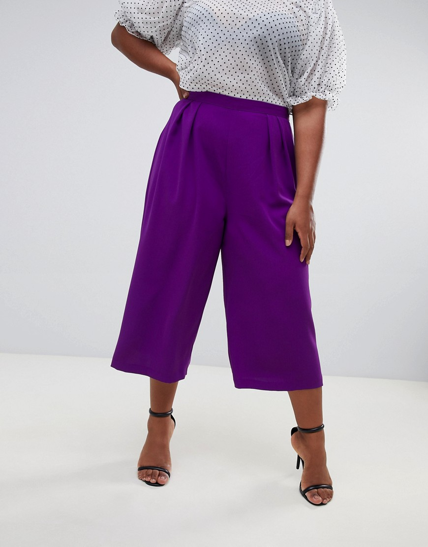 Asos Design Curve Tailored Large Pleat Culottes by Asos Design