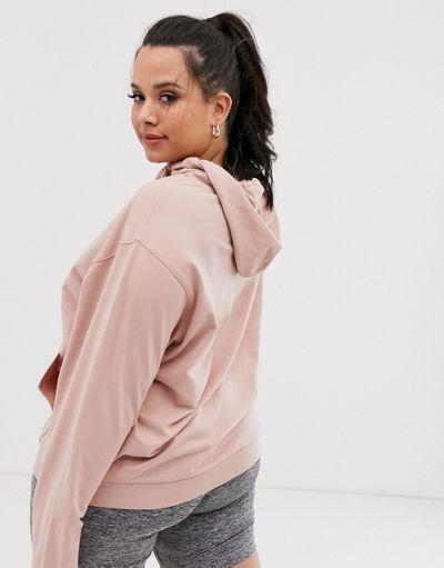 ASOS DESIGN Curve ultimate hoodie in pink