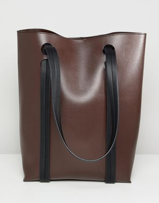 ASOS DESIGN cut out handle tall shopper