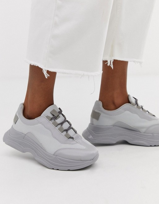 Image 1 of ASOS DESIGN Dare chunky sneakers in pale gray