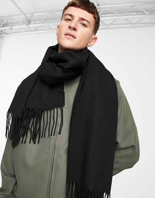 ASOS DESIGN - Dekensjaal in zwart van gerecycleerd polyester