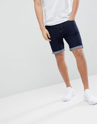 ASOS DESIGN Denim Shorts In Super Skinny Indigo