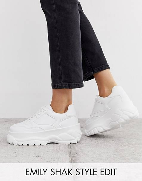 b441004bc4 ASOS DESIGN Denmark chunky trainers in white