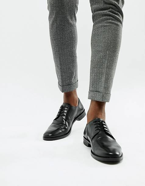 ASOS DESIGN derby shoes in black leather