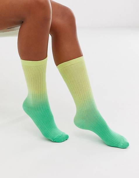 ASOS DESIGN dip dye calf length socks