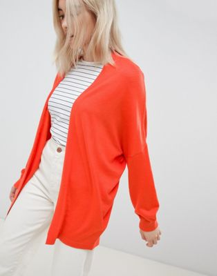 Image 1 of ASOS DESIGN eco cardigan in oversize fine knit