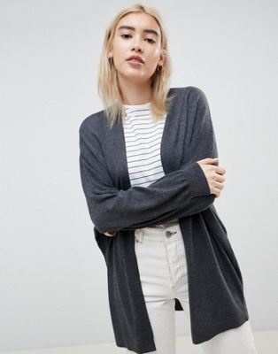 ASOS DESIGN eco cardigan in oversize fine knit
