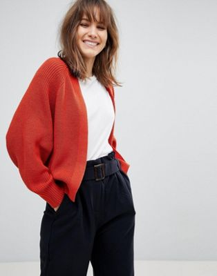 ASOS DESIGN eco chunky cardigan in soft yarn