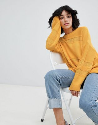 ASOS DESIGN eco oversized jumper with stitch detail