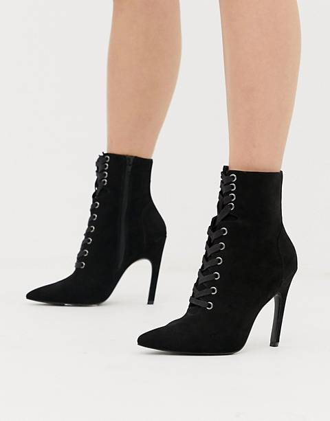 ASOS DESIGN Elaina pointed lace up boots
