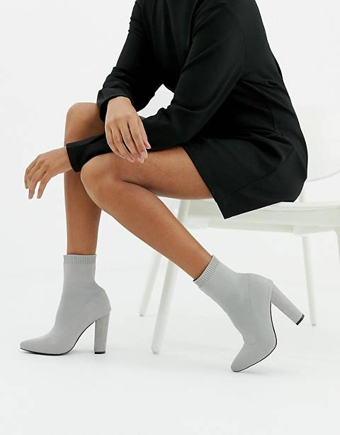 ASOS DESIGN Eleni knitted sock boots