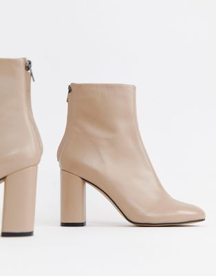 ASOS DESIGN Embrace leather high ankle boots