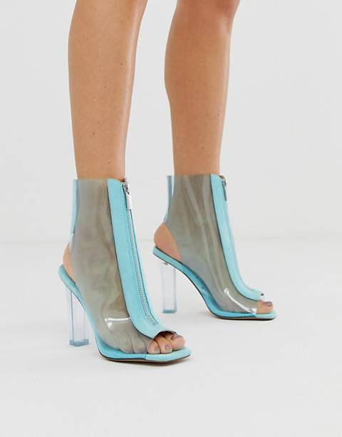 ASOS DESIGN Energise clear heeled boots