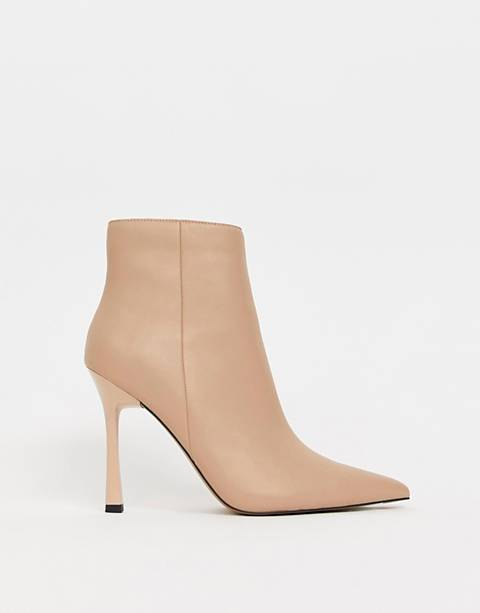 ASOS DESIGN Evon leather heeled boots
