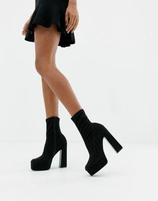 ASOS DESIGN Exposed platform sock boots