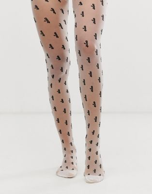 ASOS DESIGN extra slogan tights