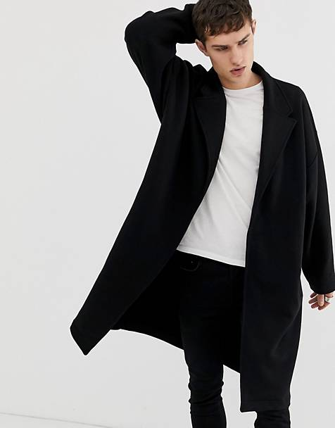 ASOS DESIGN extreme oversized jersey duster jacket in black
