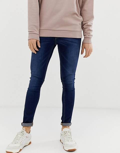 ASOS DESIGN extreme super skinny jeans in dark wash