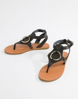 ASOS DESIGN Farringdon Flat Sandals