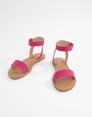 ASOS DESIGN Fellow Flat Sandals