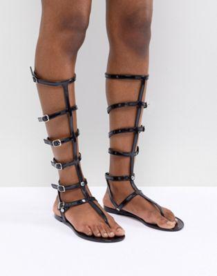 Bild 1 av ASOS DESIGN – Flexibla, platta jelly-sandaler i gladiatormodell