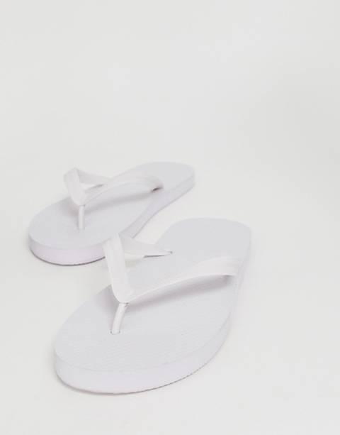 ASOS DESIGN flip flops in white