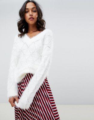 Bild 1 av ASOS DESIGN – Fluffig tröja i oversize-modell