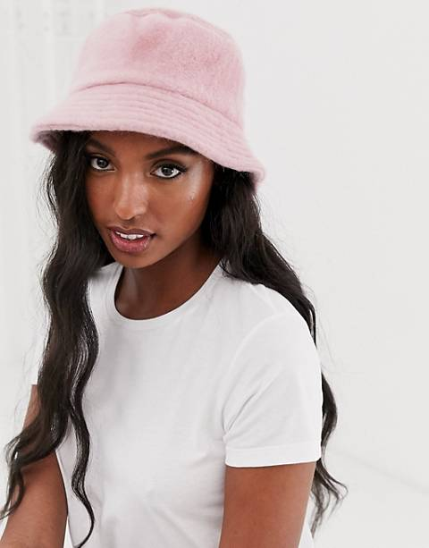 ASOS DESIGN Fluffy Bucket Hat