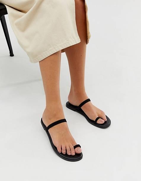 853bf749c316c6 ASOS DESIGN - Freedom - Sandales plates avec boucle à l'orteil