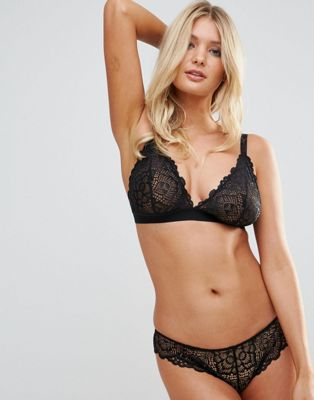 ASOS DESIGN Fuller Bust Rita lace mix & match triangle bra
