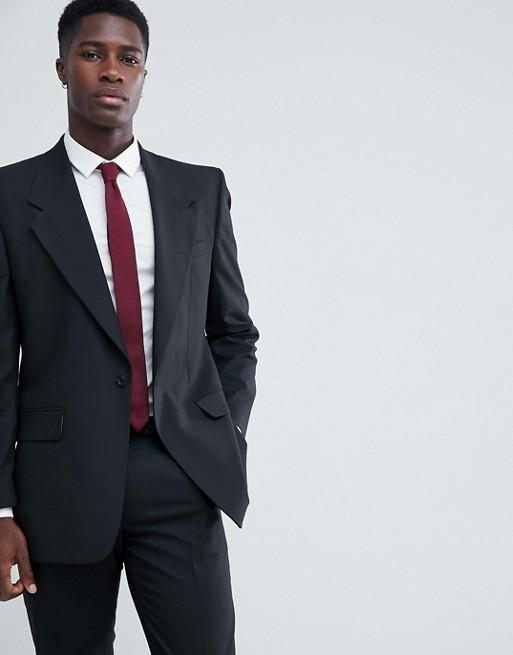 Immagine 1 di ASOS DESIGN - Giacca da abito nera oversize