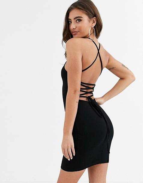 ASOS DESIGN going out strappy back mini dress