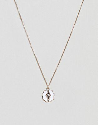 ASOS DESIGN – Goldene Halskette im Vintage-Stil mit Anhänger