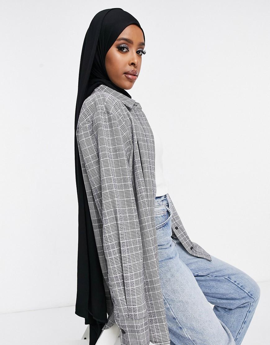 ASOS DESIGN – Großes, einfarbiges Kopftuch in Schwarz | Accessoires > Schals & Tücher > Tücher | ASOS DESIGN