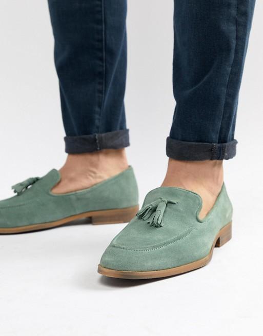 Natursohle grün ASOS Loafer DESIGN mit Wildleder Grüne aus aBw4Y4qAxC